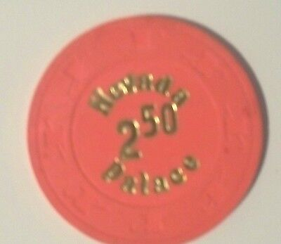 Nevada Palace $2.50 Orange Red Hot Stamp Casino Chip Las Vegas Nevada