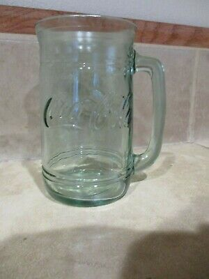 Vintage Coca Cola D Handle Mug/ Stein- Green ,