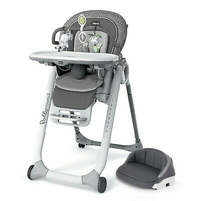 CHICCO POLLY PROGRESS RELAX 5 IN 1 SPACE SAVING MULTI HIGH CHAIR  Silhouette