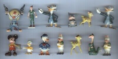 Lot of 13 Vintage Disney Disneykin Figures 1960's