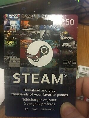 EXCLUSIVE 50$ CAD Steam Gift Card [I WILL PM CODE]