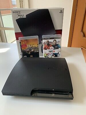 Sony PlayStation 3, PS3 Slim- 120GB- Charcoal Black Con Giochi Compresi