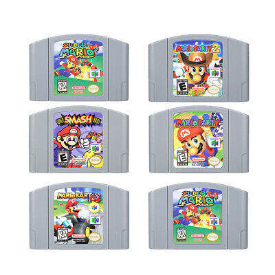 Mario Kart 64 Super Mario 64 Party 123 Video Game Cartridge Nintendo N64 Console