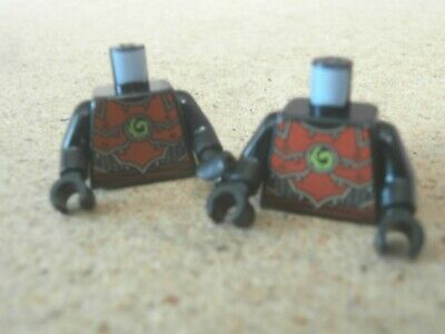 5x Lego City Minifig Town City Torso Red with mixed