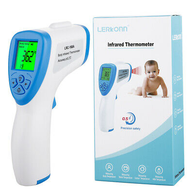 Digital Thermometer Forehead Non-contact Infrared Baby Adult  Thermometer w/LCD