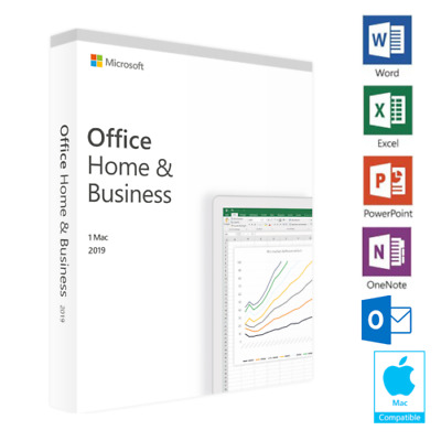 Microsoft MS Office Home & Business 2019 key fo MAC OS and Windows Lifetime