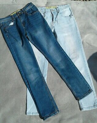 2 Pairs Girls skinny jeans age 12-13 yrs