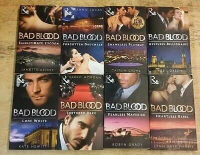 8 BAD BLOOD MILLS & BOON by VARIOUS  AUTHORS  ** £3.25 UK POST ** PAPERBACK