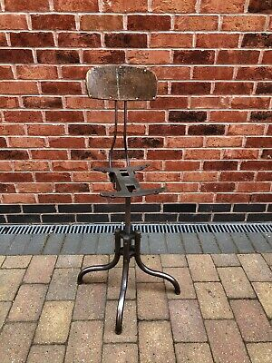 Old Industrial Engineer Machinist Factory Stool - needs attention good project
