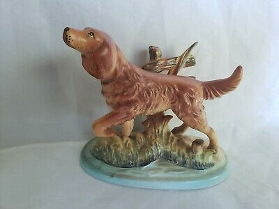 Vintage Irish Setter Figurine Hunting Dog