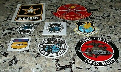 Lot of 8 MILITARY STICKERS Army USMC US Pacific Command
