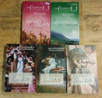 5 MILLS AND BOON: THE STEPWOOD SCANDAL by VARIOUS AUTHORS  ** £3.25 UK POST** PB