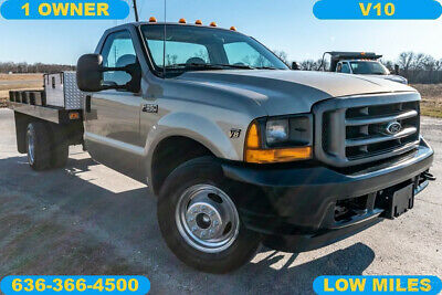 2001 Ford F350 XL Used flatbed low miles V10 auto 1 owner work landscape truck