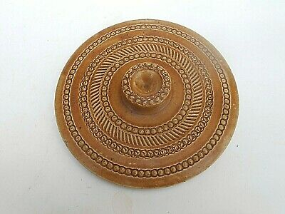 "Early 20th c.SCOTTISH POTTERY Stoneware BUTTER CROCK Lid (7"" Diameter)"