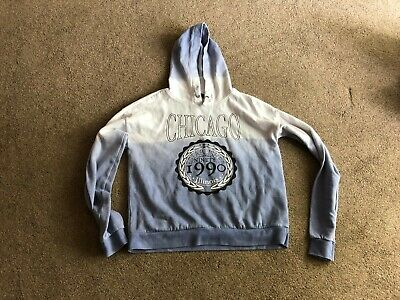 New Look faded blue and white Chigago hoodie aged 14/15 years