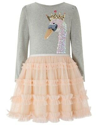 Girls Monsoon Tutu Swan dress 7-8