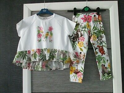 Girls Monnalisa Jungle Book Top & Leggings Set Age 9 Yrs Worn Once