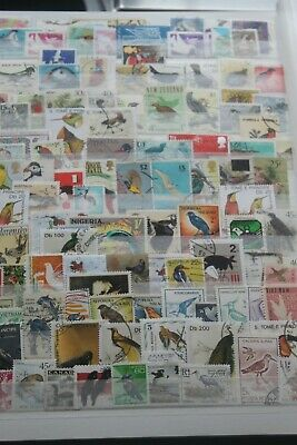 100+ Stamps - Birds - Off Paper - Used  #2089