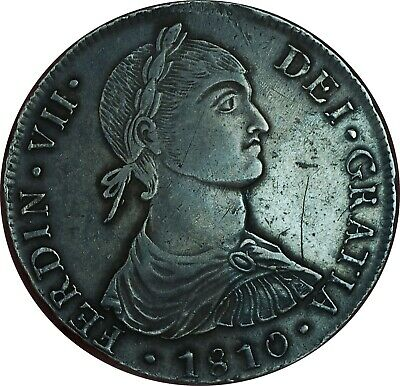 1810 MAE-JP 8 Reales Lima Peru XF Condition Imagined Bust Type