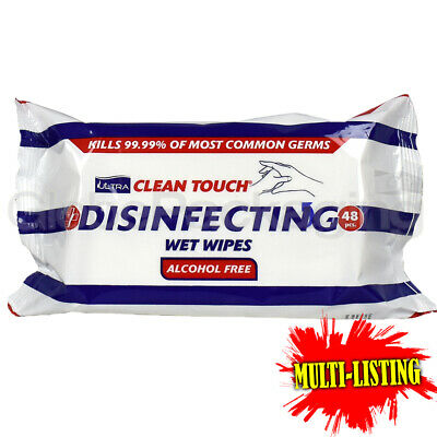 Dual Purpose Disinfecting Surface & Hand Wet Wipes (48 Sheets/Pack) *All Qty's*