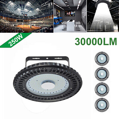 5X 250W UFO LED High Bay Light lamp Factory Warehouse office Roof Shed Lighting
