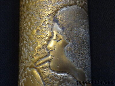 JAZZ AGE - HIGH LIFE 1929 CANNABIS Trench Art Shell Casing Nude Female Smoker