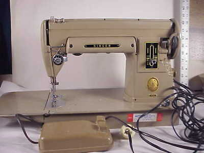Singer 301A Sewing Machine W/ Orig Case Runs Smooth Na 555849 1951