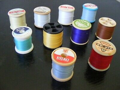 Vintage Sewing Thread Spools / Bobbins - Bundle / Job Lot