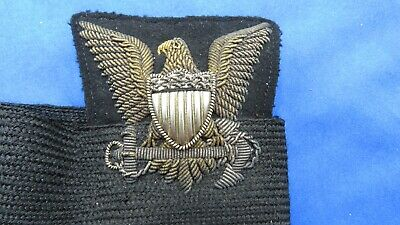 Spectacular Original U.S. Coast Guard Officer's Hat Badge - Bullion & Metal