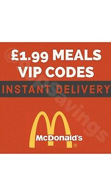 Mcdonalds Lifetime Discount Codes - Instant Delivery - Meals For £0.99