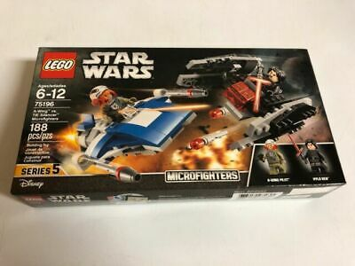 Lego 75196 Star Wars 6+ NEW A-wing vs. TIE Silencer Microfighters 188 Pieces
