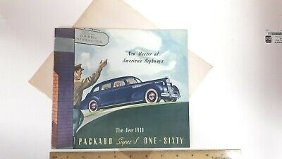 1940 PACKARD Super 8 One Sixty - Part Color Catalog - Excellent Condition - (US)