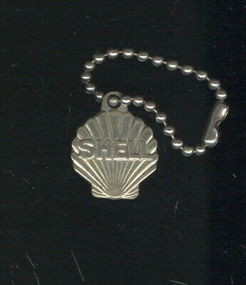 Old White Metal Key Tag In Shape Of Shell Oil Co. Emblem