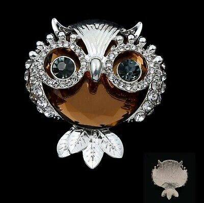 2pc Flatback Silver Rhinestones Crystal Owl Embellishments for Crafts Decoration