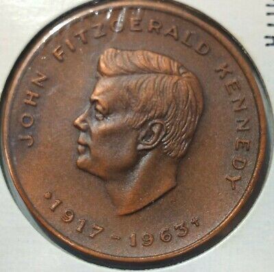1964 Canada John F. Kennedy 40 mm bronze uncirculated tribute medal
