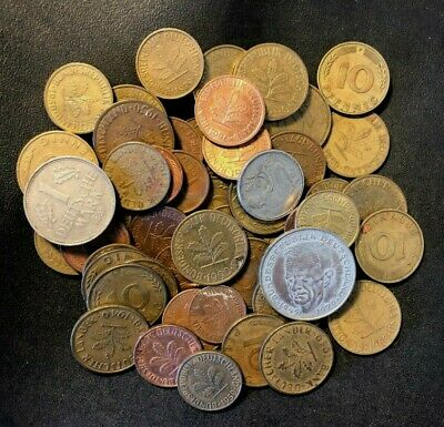 Vintage Germany Coin Lot - 60+ COINS -  Great Group - Lot #M27