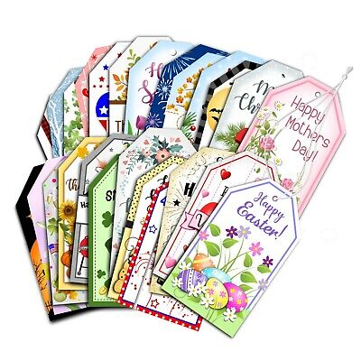 Handmade Holiday Gift Tags - Assorted Set of 25