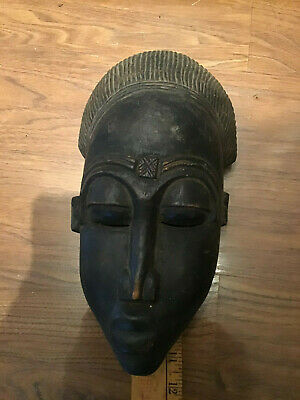 Vintage tribal mask African 11 inches long