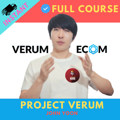 Project Verum John Yoon Dropshipping COURSE 2020 (INSTANT DELIVERY)