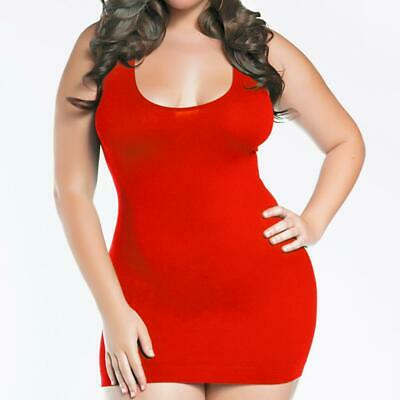 Sexy Plus Size Lingerie One Sz Queen Red  Dress Chemise R157X