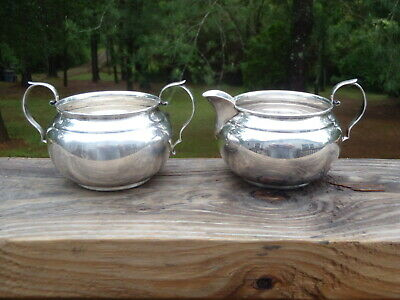 "GORHAM Sterling Silver 2.25"" MINI CREAMER & SUGAR BOWL SET #909/910 172g VGUC NR"