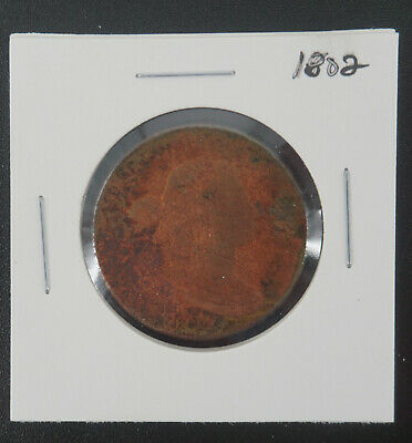 1802 Draped Bust Large Cent Early Copper Coin