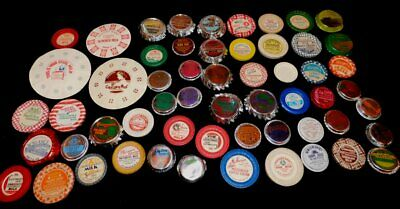 Lot of 58 Vintage MILK BOTTLE CAPS No Two Alike INCL 3 TEMPORARY CAPS