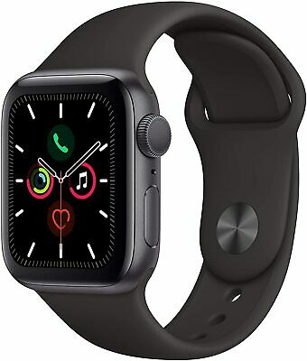 iWatch Series 5 (GPS, 40mm) - Space Gray Aluminum Case with Black Sport Band