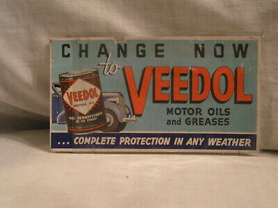 Veedol Motor Oil And Greases Ink Blotter