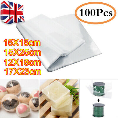 100/300Pcs Waterproof POF Heat Shrink Wrap Bags for Soaps Bath Bombs DIY Craft