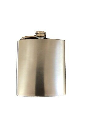 Liquid Courage Flask, 6 oz Stainless Steel