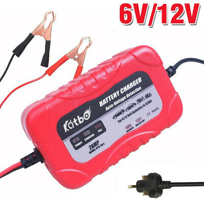 6V/12V Motorcycle Car Battery Charger Automatic Smart Lead Acid Battery Charger