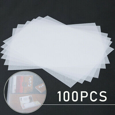 100pcs Tracing Paper Translucent Calligraphy High Quality Smooth Sheets Pack New
