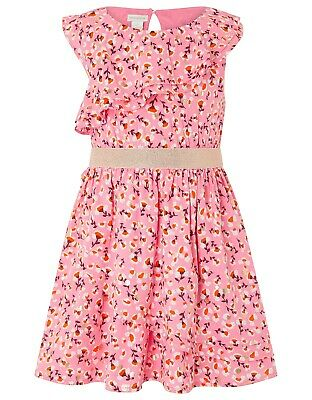 Girls Monsoon Flowers Print Ruffle dress 9 years